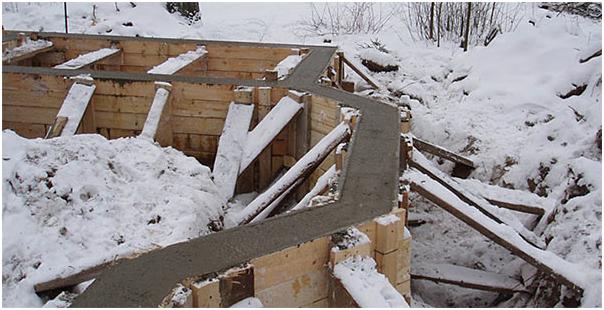 заливка бетона зимой в опалубку
