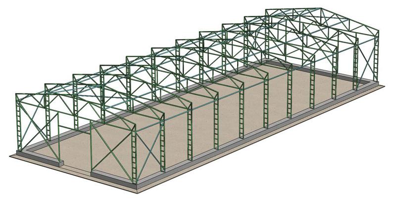 схема ангара из металлоконструкций