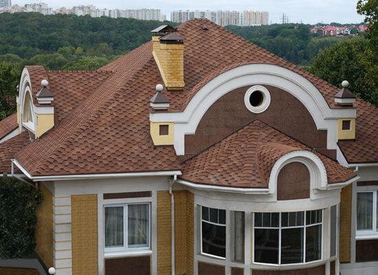 Гибкая черепица на крыше дома